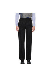 Maison Margiela Black Pinstripe Trousers
