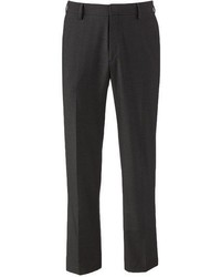 Haggar Tailored Fit Shadow Striped Black Flat Front Suit Pants