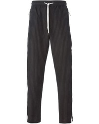 Piped pinstriped track pants medium 259577