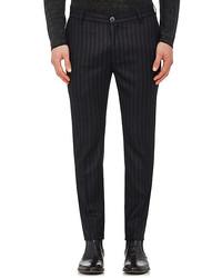 John Varvatos Striped Wool Trousers