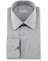 Stefano Ricci Fancy Striped Dress Shirt