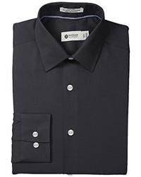 Haggar Tonal Stripe Point Collar Regular Fit Long Sleeve Dress Shirt