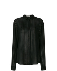 Saint Laurent Sheer Striped Shirt