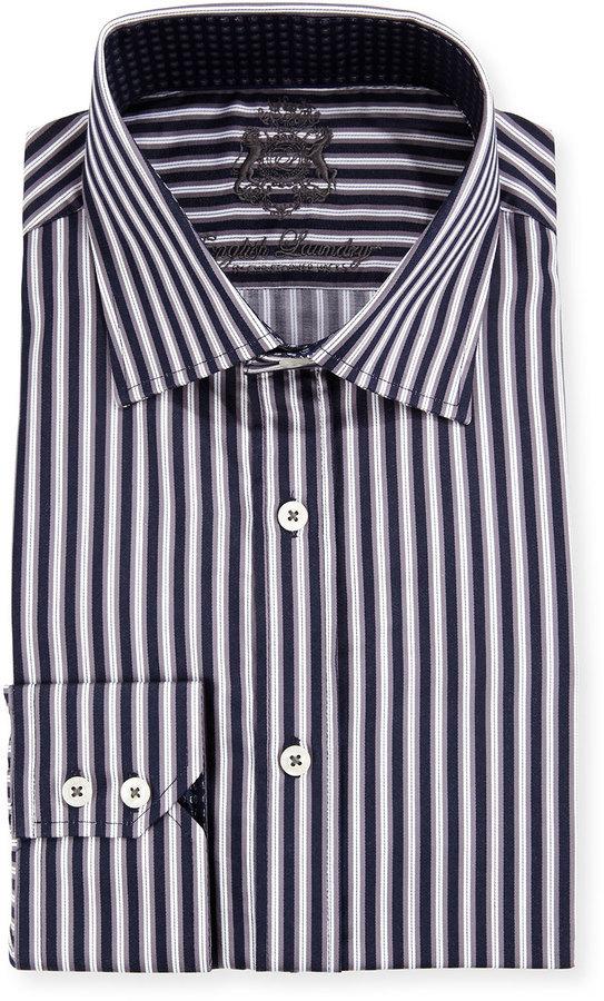 9ba453f4b6 English Laundry Striped Long Sleeve Dress Shirt Black, $39 | Last ...