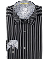 Bugatchi Striped Shaped Fit Dress Shirt