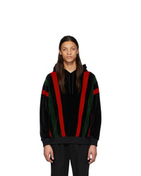 Gucci Black And Multicolor Chenille Hoodie