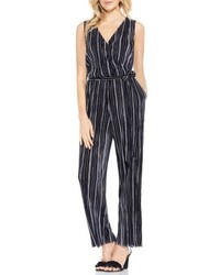 Black Vertical Striped Jumpsuit