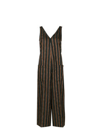 Golden Goose Deluxe Brand Paisley Pattern Striped Jumpsuit