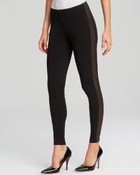 New york sparkle tuxedo stripe leggings medium 129868
