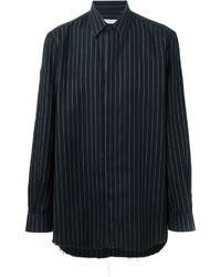 Black Vertical Striped Long Sleeve Shirt