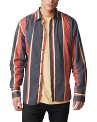 Zanerobe Slim Fit Retro Stripe Button Up Shirt