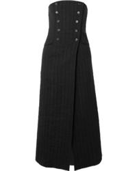 Ann Demeulemeester Convertible Pinstriped Midi Skirt