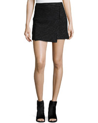Lennon shimmery pinstripe wrap skirt medium 422455