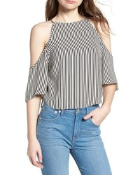 BISHOP AND YOUNG Bishop Young Ava Stripe Cold Shoulder Top