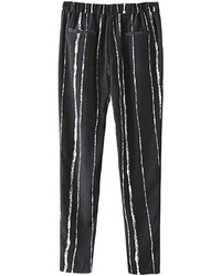 Choies black stripe harem pants medium 77850