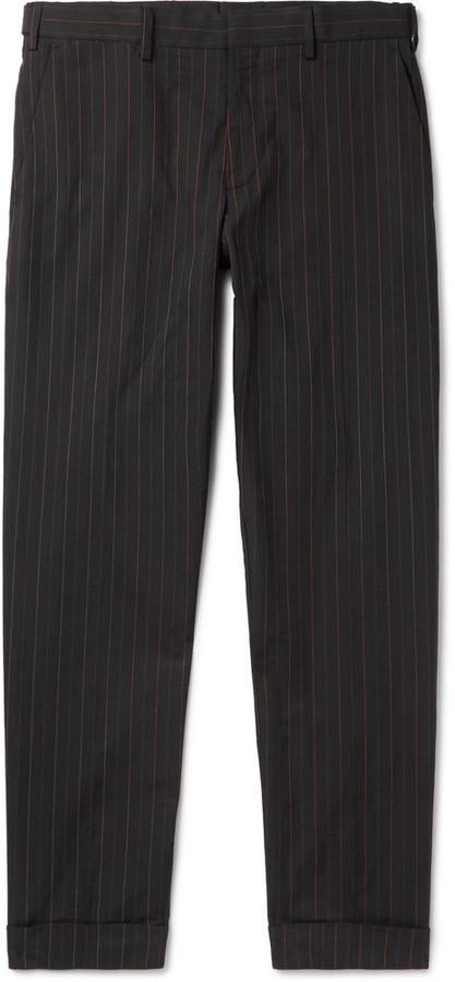... Dries Van Noten Philip Slim Fit Pinstriped Cotton Trousers ... f883764ce