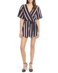 Row A Stripe Kimono Romper