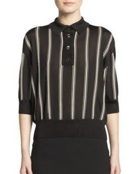 Lanvin Striped Polo Shirt