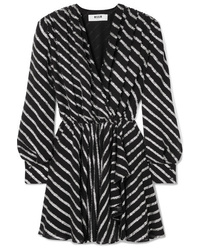 MSGM Striped Fil Coup Tte Dress
