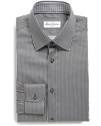 Black Vertical Striped Shirt