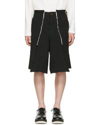 Comme des Garcons Comme Des Garons Homme Plus Black Pinstripe Shorts