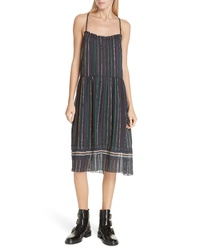 Rag & Bone Austin Stripe Silk Midi Dress