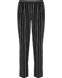 Black Vertical Striped Skinny Pants