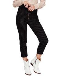 Free People Montella Pinstripe Crop Skinny Pants
