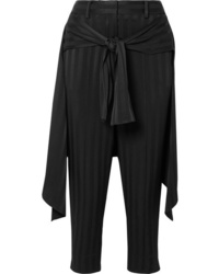 Hellessy Sentry Cropped Tie Detailed Jacquard Straight Leg Pants