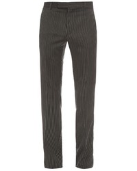 Striped slim leg wool trousers medium 534031