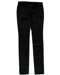 Dolce & Gabbana Striped Velvet Pants