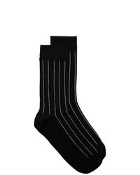 Black Vertical Striped Socks