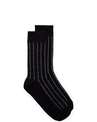 Black Vertical Striped Socks
