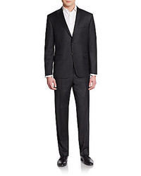 Hickey Freeman Regular Fit Pinstripe Worsted Wool Suit