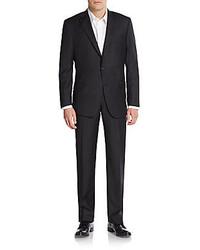 Hickey Freeman Regular Fit Pinstripe Worsted Wool Suit
