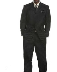 Ferrecci Savile Row Black Stripe Suit