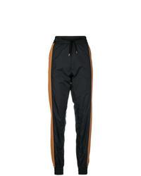 Black Vertical Striped Sweatpants