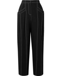 Derek Lam Paneled Crepe Tapered Pants