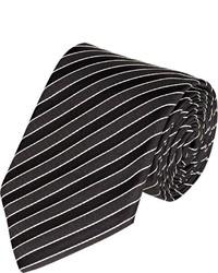 Ralph Lauren Black Label Diagonal Striped Necktie Black