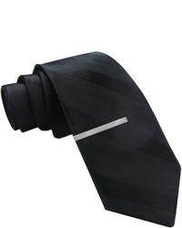 JF J.Ferrar Jf J Ferrar Tonal Striped Tie And Tie Bar Set Skinny