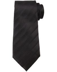 Armani Collezioni Tonal Dressy Stripe Tie Black