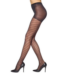 Hue Bias Line Sheer Control Top Tights