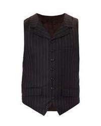 Alexander McQueen Pinstripe Flannel Waistcoat