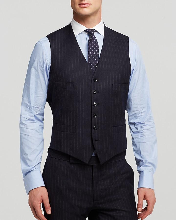 ... Ralph Lauren Black Label Austin Chalk Stripe Vest Bloomingdales