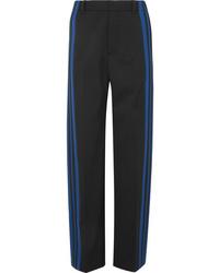 Balenciaga Striped Stretch Crepe Track Pants