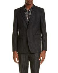 Saint Laurent Classique Pinstripe Wool Jacket