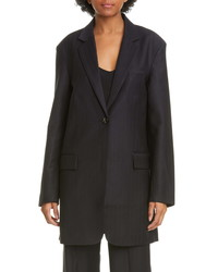 Co Pinstripe Oversize Wool Blend Blazer