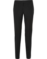 Moschino Pinstriped Wool Blend Straight Leg Pants