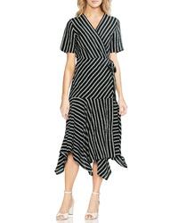 Vince Camuto Stripe Wrap Dress