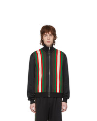 Gucci Black Jersey Zip Up Sweater